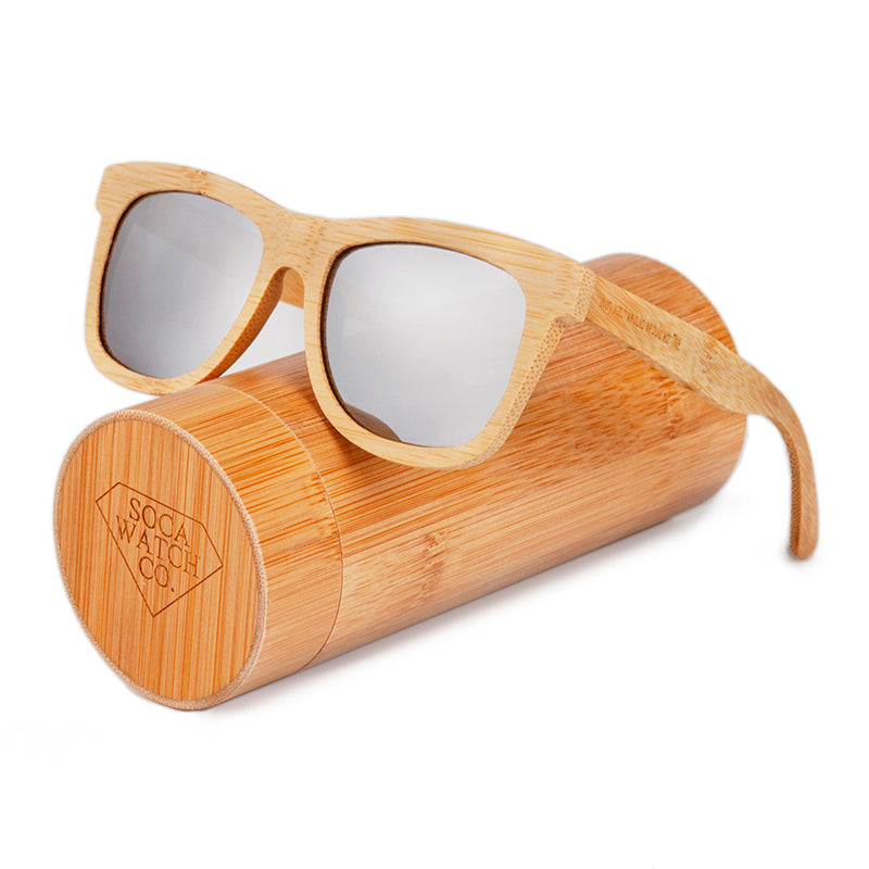 Wood sunglasses uv400 polarized sun blocking glasses with black lenses