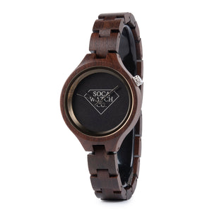 Ebony Dark Wood Womens Watch