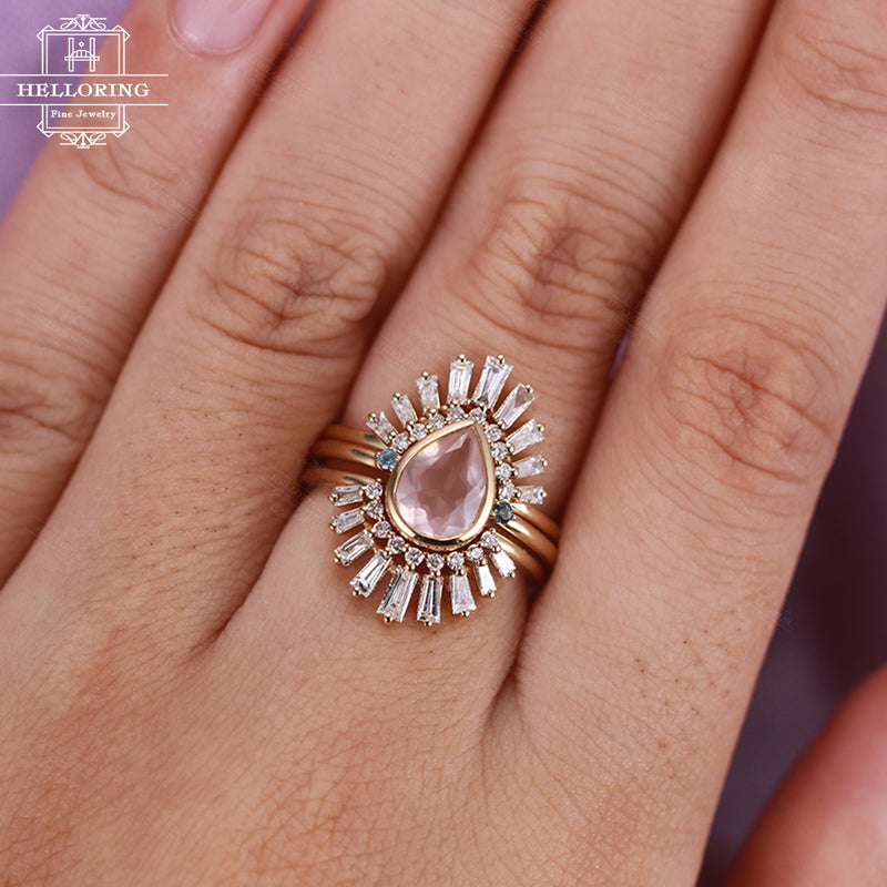 WOMEN ROSE QUARTZ DIAMOND
