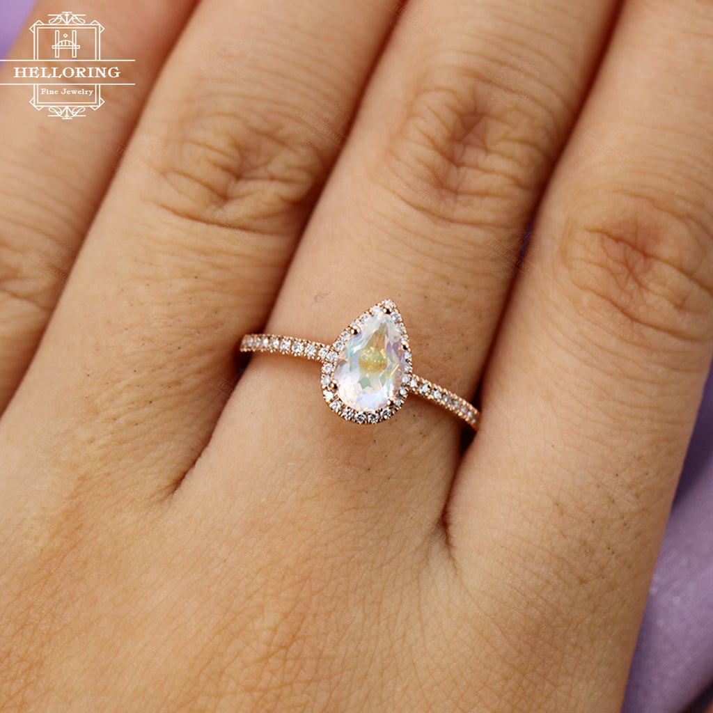 dainty ring gold stone ring gold solitaire ring art deco gold ring gold solitaire ring valentines gift for women gold bridesmaid jewelry