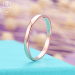 Plain rose gold Wedding band, rings for women, womens wedding ring,2MM Matching Stacking Promise Simple Jewelry Anniversary gifts for her