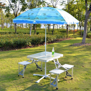 Outdoor Folding Table & Chair