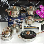 KAISA VILLA 12 PCS ELEGANT MARBLE COATING COOKWARE SET