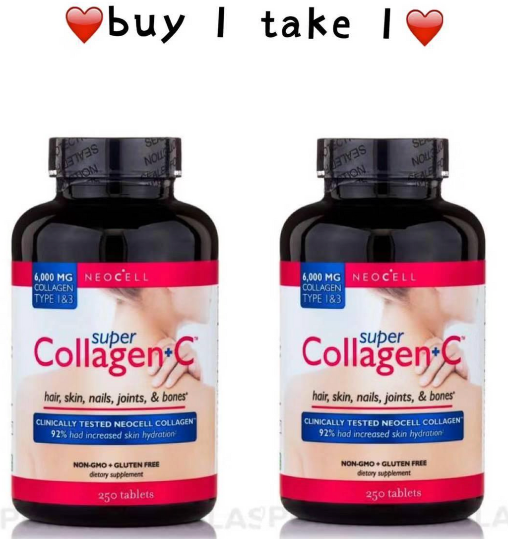 NEOCELL COLLAGEN+C 1 BOTTLES OF 250 TABLETS (BUY 1 TAKE 1)
