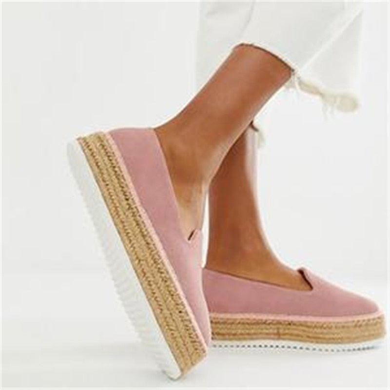 eshopella - New Faux Suede Espadrilles Shoes  Casual Loafers -