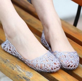 eshopella - New 2018 summer women sandals breathable shoes crystal jelly nest crystal sandals female flat sandal shoes woman ST239 -