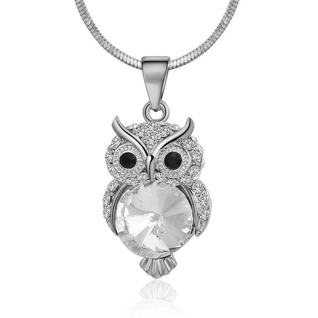 Cute Owl Bird Pendant Necklaces - Discountgereation