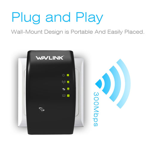 Portable 2.4G 300Mbps Wireless Wi-fi Repeater - Discountgereation