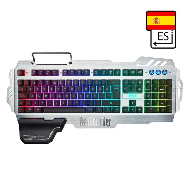 Metal Cover RGB Gaming Keyboard - Discountgereation