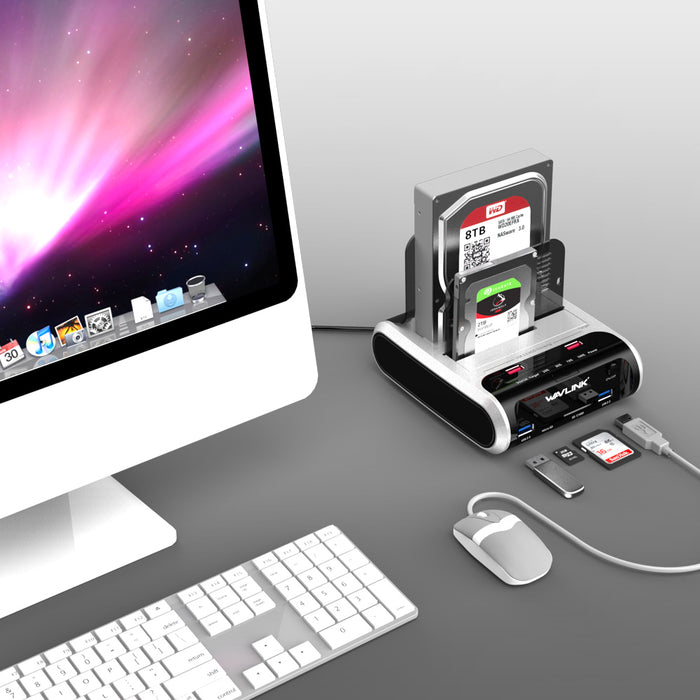 USB 3.0 to SATA Dual-Bay Hard Drive Docking Station - Discountgereation