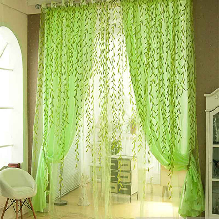 Willow Tulle Curtains For Living Room - Discountgereation