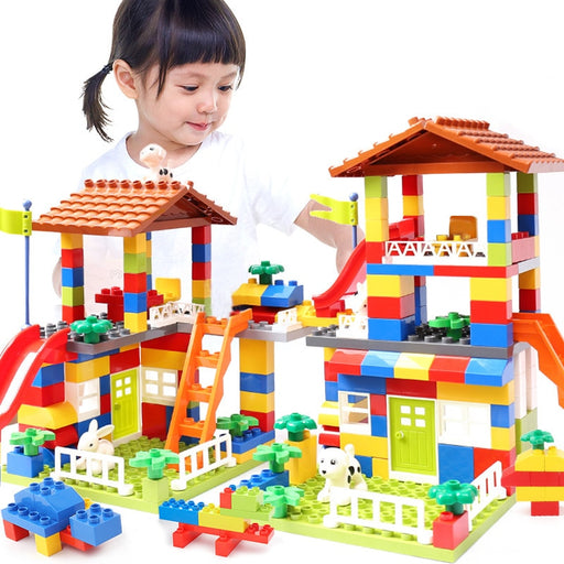 City House Roof Big Particle Building Blocks Toys - Discountgereation