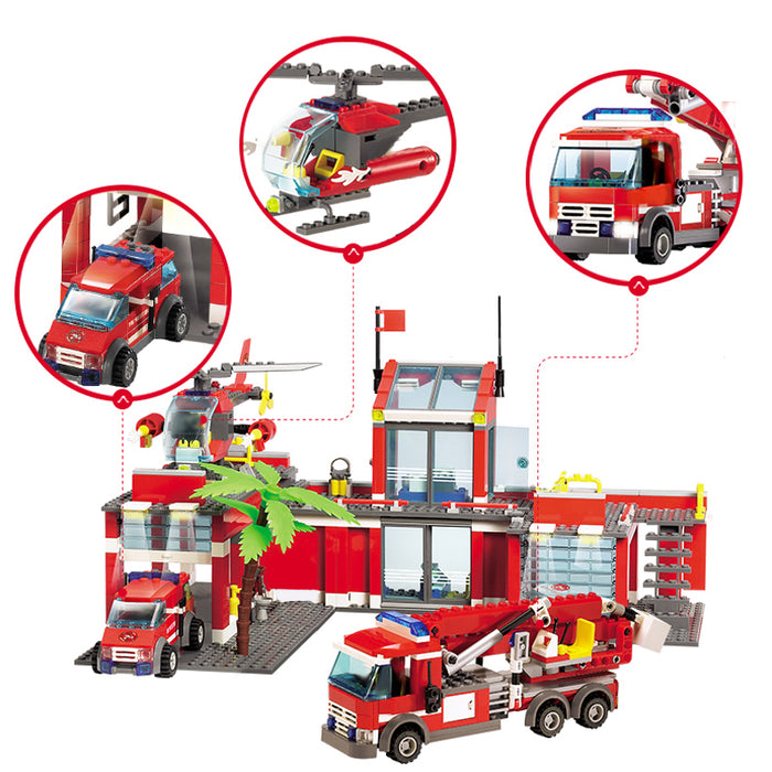 Fire Station Model Blocks Toys - Discountgereation