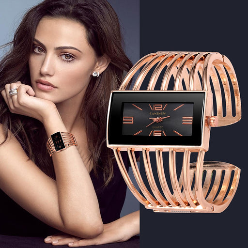 Gold Quality Bangle Bracelet Quartz Watch - Discountgereation