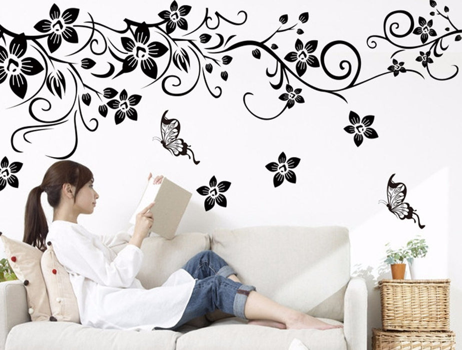 Romantic Flower Home Decor Wall Stickers - Discountgereation