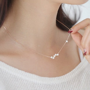 925 Sterling Silver Stars Necklaces - Discountgereation