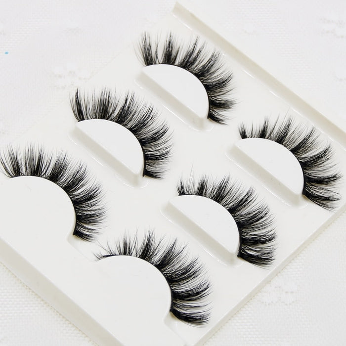 100% Handmade Real Mink Fur False Eyelash - Discountgereation