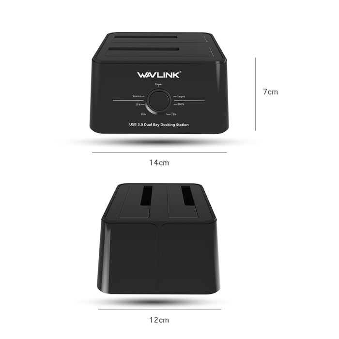 Dual Bay External Hard Drive Docking Station - Discountgereation