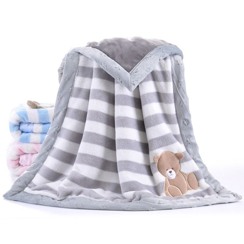 High Quality Thicken Flannel Baby Blanket - Discountgereation