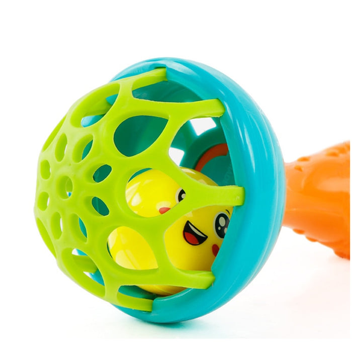 Grasping Gums Plastic Hand Bell Rattles Toy - Discountgereation