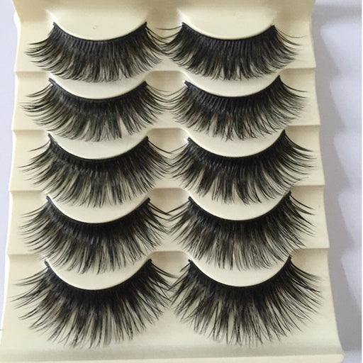 Handmade Thick Black False Eyelashes - Discountgereation