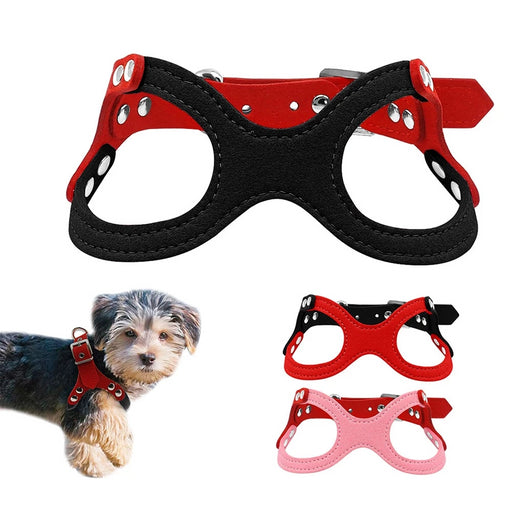 Suede Leather Small Dog Harness - Discountgereation