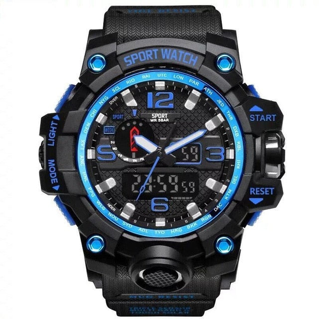 Shock Resistant LED Digital Sports Wristwatch - Discountgereation