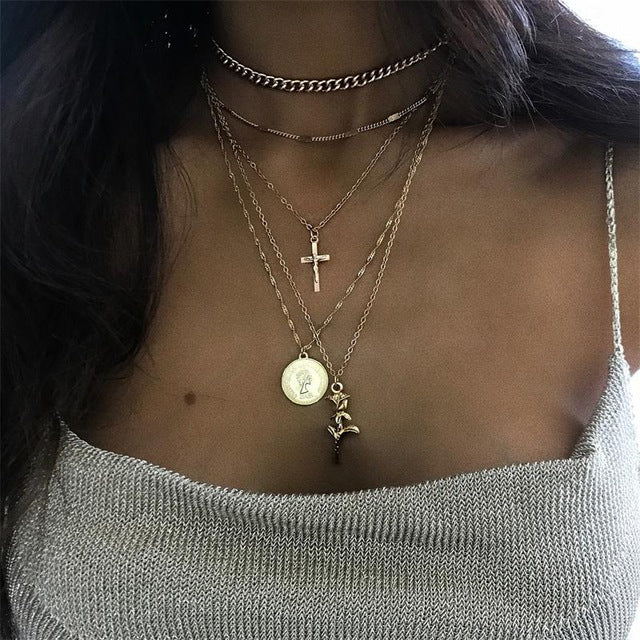 Retro Round Cross Pendant Necklaces - Discountgereation
