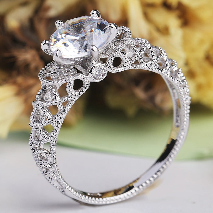 Hollow Wave Romantic Infinity Rings - Discountgereation