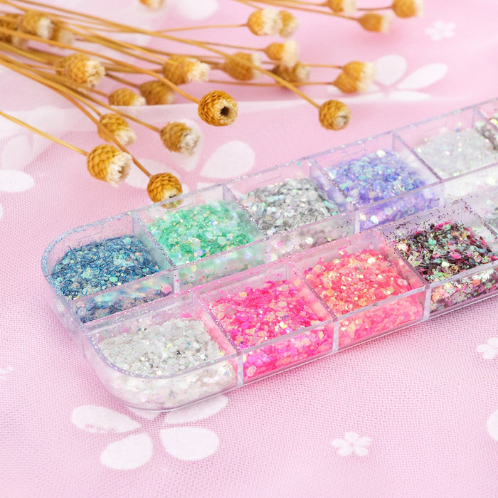 Sparkly Shiny 3D Holographic Nail Glitter - Discountgereation
