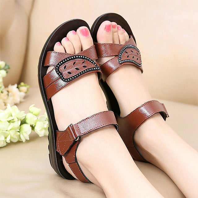 Summer Beach Genuine Leather Sandals - Discountgereation