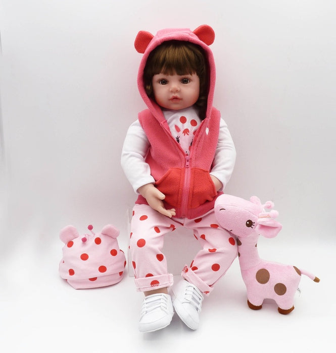 Silicone reborn toddler baby dolls toy - Discountgereation