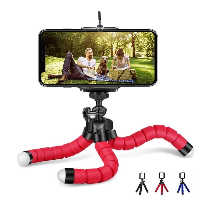 Flexible Sponge Octopus Tripod Phone Holder - Discountgereation