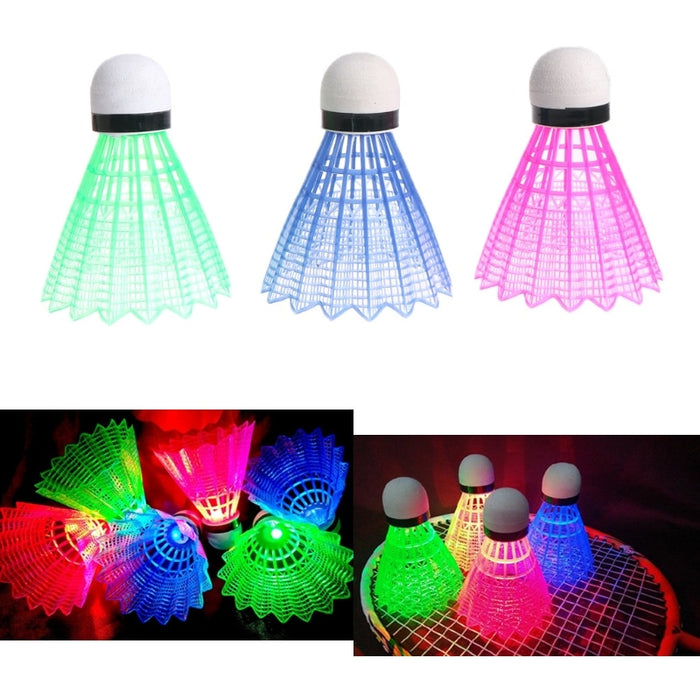 Glowing Light Up Plastic Badminton Shuttlecocks - Discountgereation