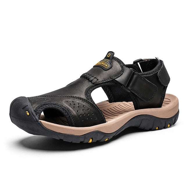 Roman Style Genuine Leather Sandals - Discountgereation