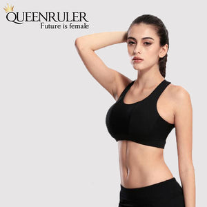 Cross Strap Workout Bra (Black) - Queenruler