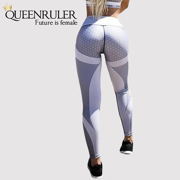 Back View Breathable Push Up Leggings (Gray) | Queenruler