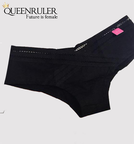 Comfort Cotton Panties (Black) - Queenruler