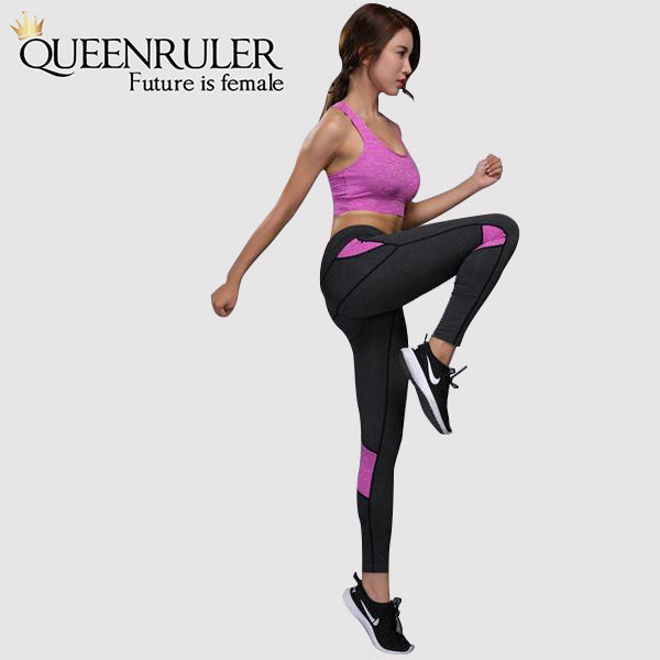 Two Piece Yoga Set (Purple) - Queenruler