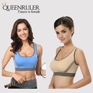 Breathable Fitness Bra (Blue) - Queenruler