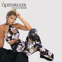 Sexy Floral Sports Suit - Queenruler