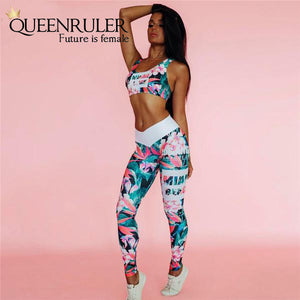 Retro Digital Print Workout Set - Queenruler