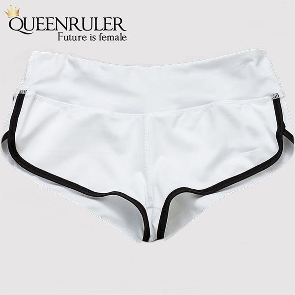 Hot Cotton Athletic Shorts (White) - Queenruler
