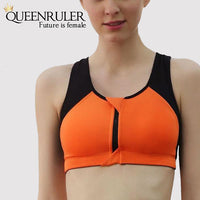 Women Sport Fitness Bra (Orange) - Queenruler
