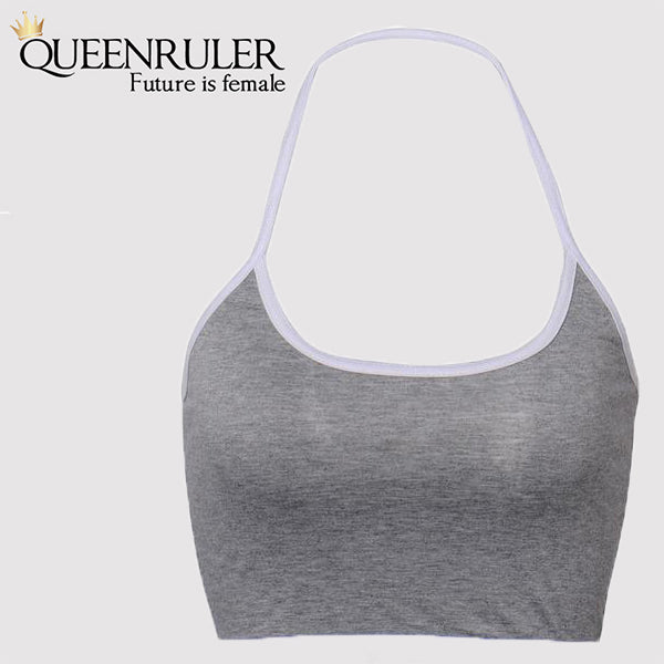 Fitness Push Up Stretch Bra (Gray) - Queenruler