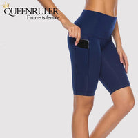 Quick Dry Running Tights (Navy) - Queenruler