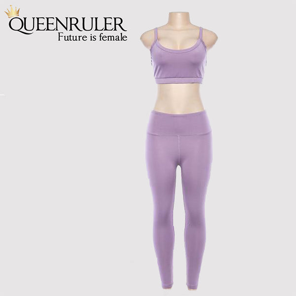 Queenruler Sweatshirt & Leggings (Purple) - Queenruler