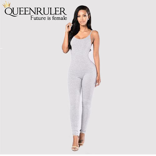 Quick-Dry Athletic Jumpsuit (Light Grey) - Queenruler