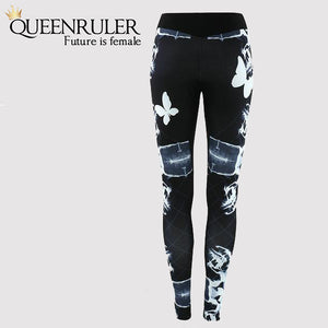 2018 Sexy Running Pants (Black Butterfly) - Queenruler