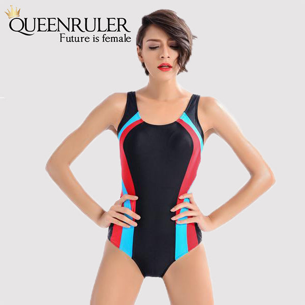 One Piece Fashion Swimsuit (Multi-Color) - Queenruler